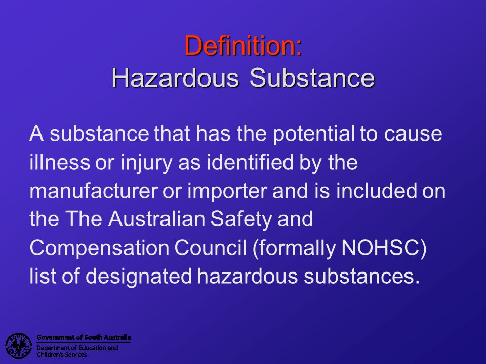 Definition: Hazardous Substance