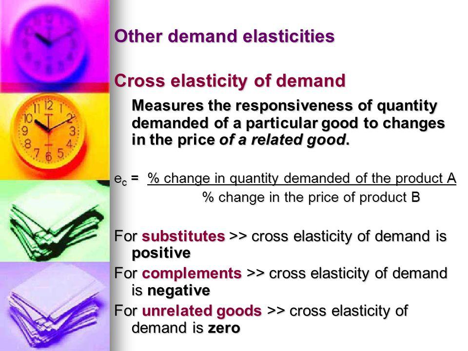 Other demand elasticities