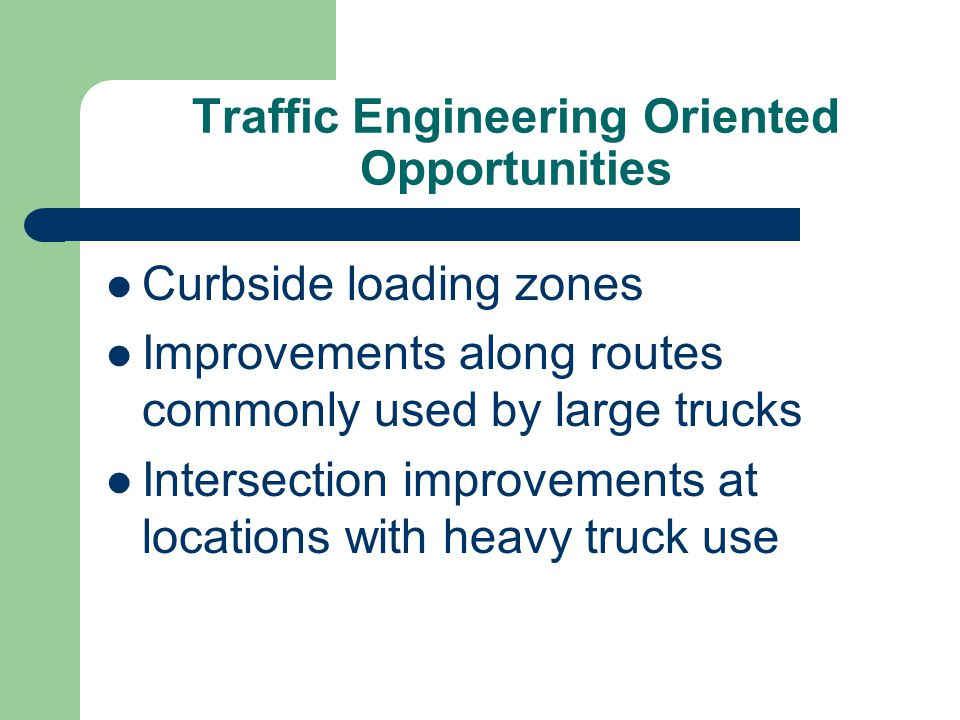 Traffic Engineering Oriented Opportunities