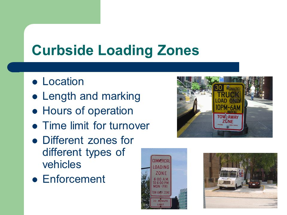 Curbside Loading Zones