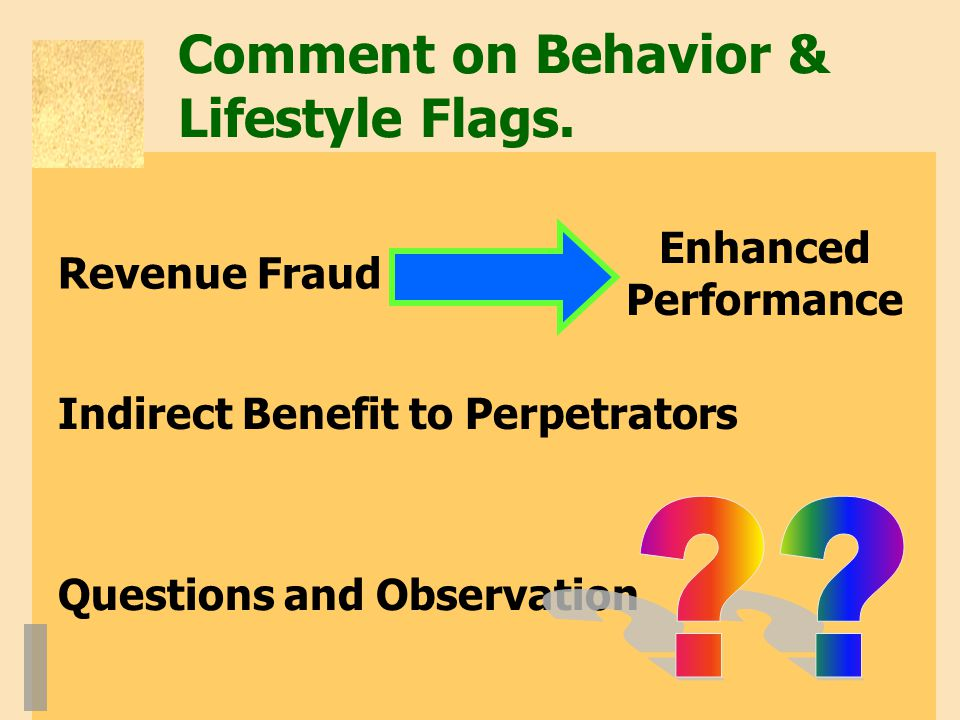 Comment on Behavior & Lifestyle Flags.
