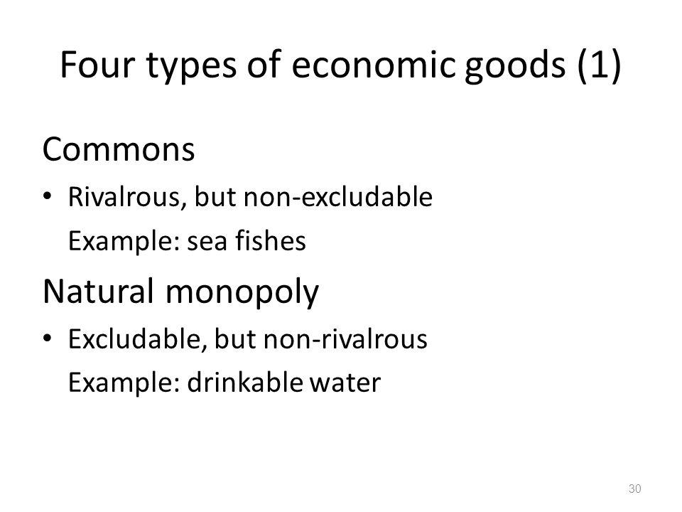 Four types of economic goods (1)