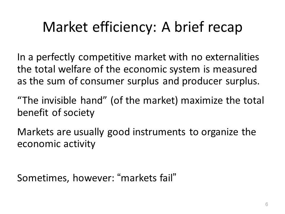 Market efficiency: A brief recap
