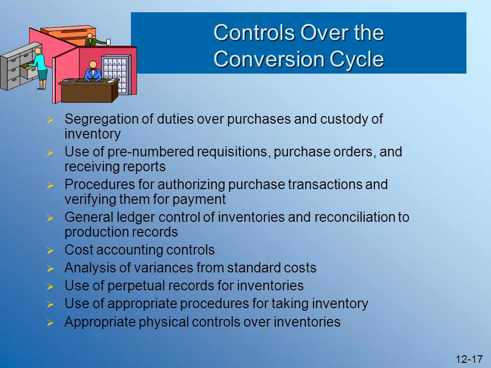 Controls Over the Conversion Cycle