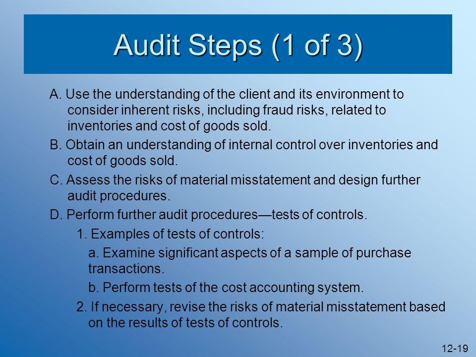 Audit Steps (1 of 3)
