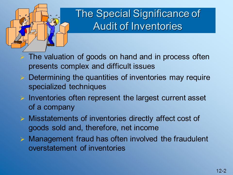 The Special Significance of Audit of Inventories