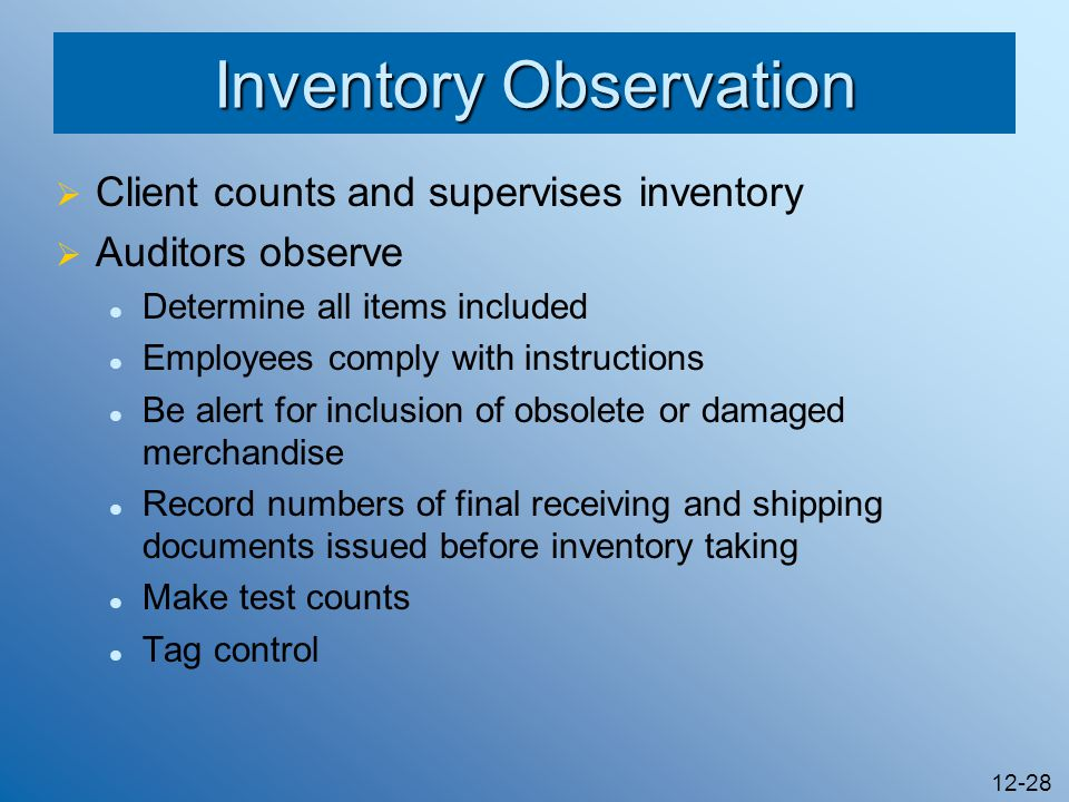 Inventory Observation