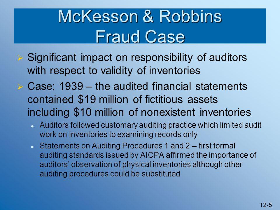 McKesson & Robbins Fraud Case