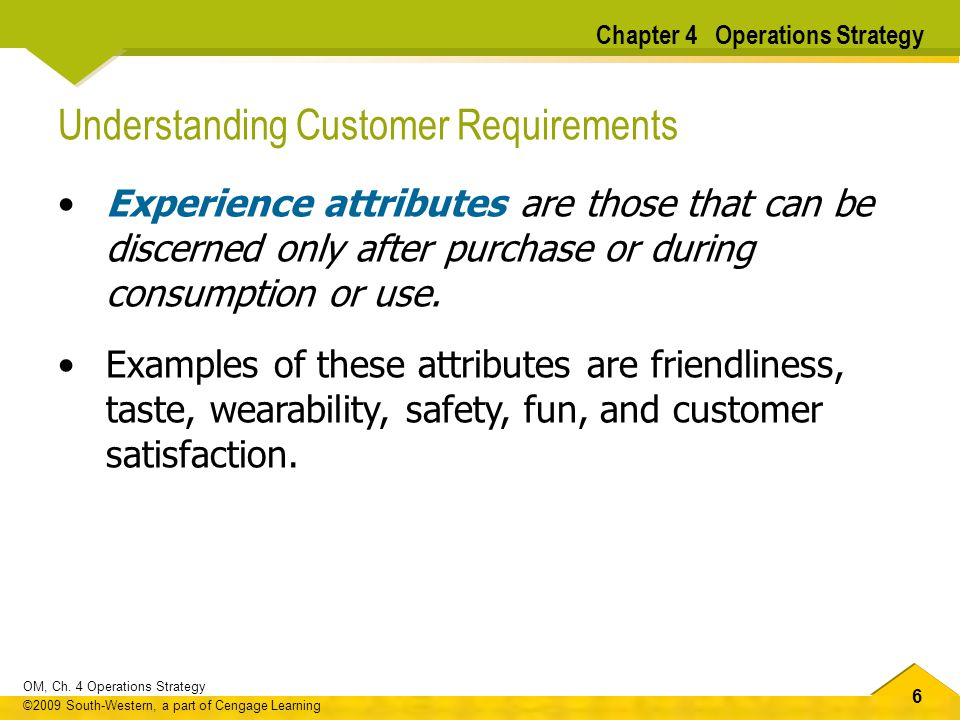 Understanding Customer Requirements