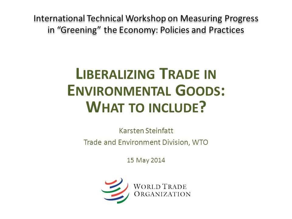 Liberalizing Trade in Environmental Goods: What to include