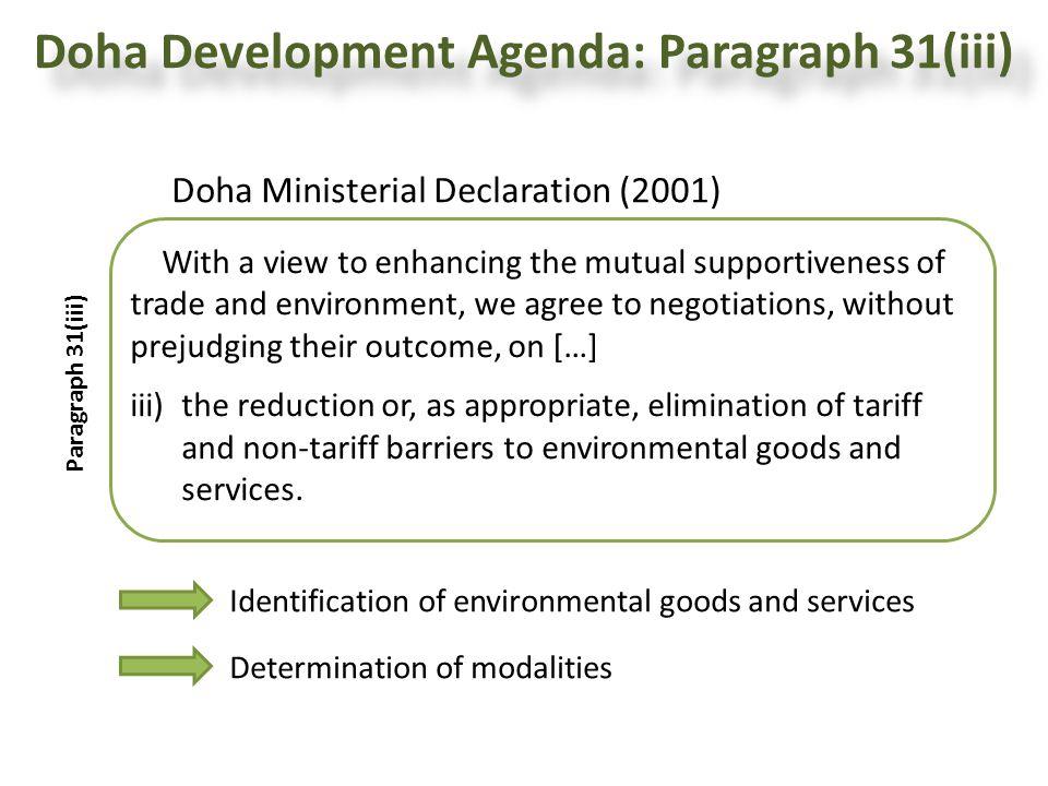 Doha Development Agenda: Paragraph 31(iii)
