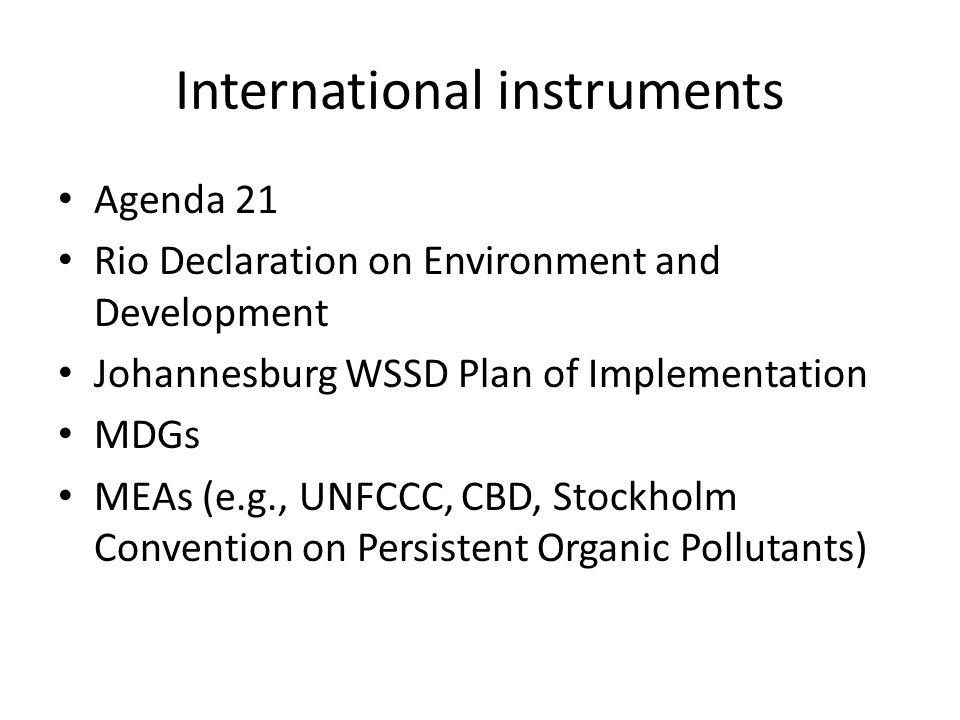 International instruments