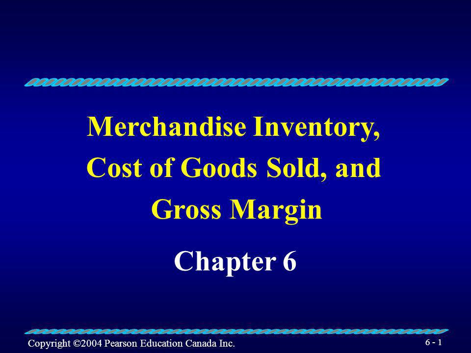 Merchandise Inventory,