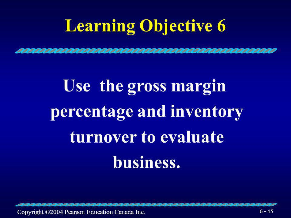percentage and inventory