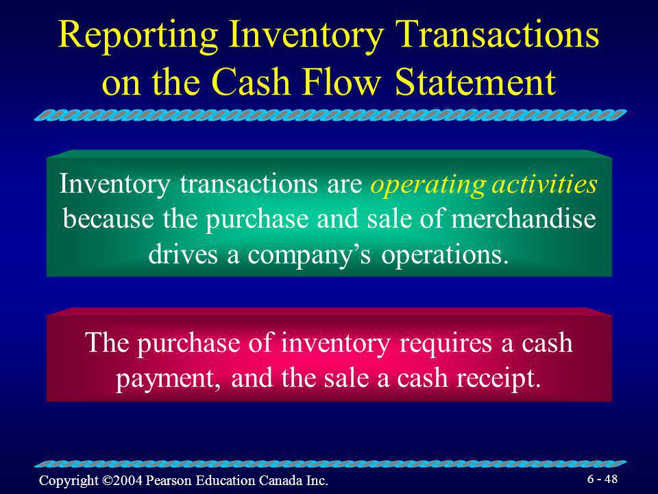 Reporting Inventory Transactions on the Cash Flow Statement