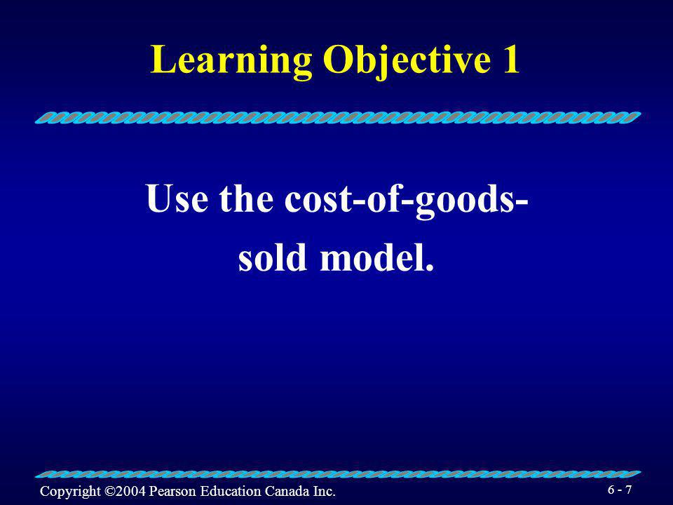 Use the cost-of-goods-