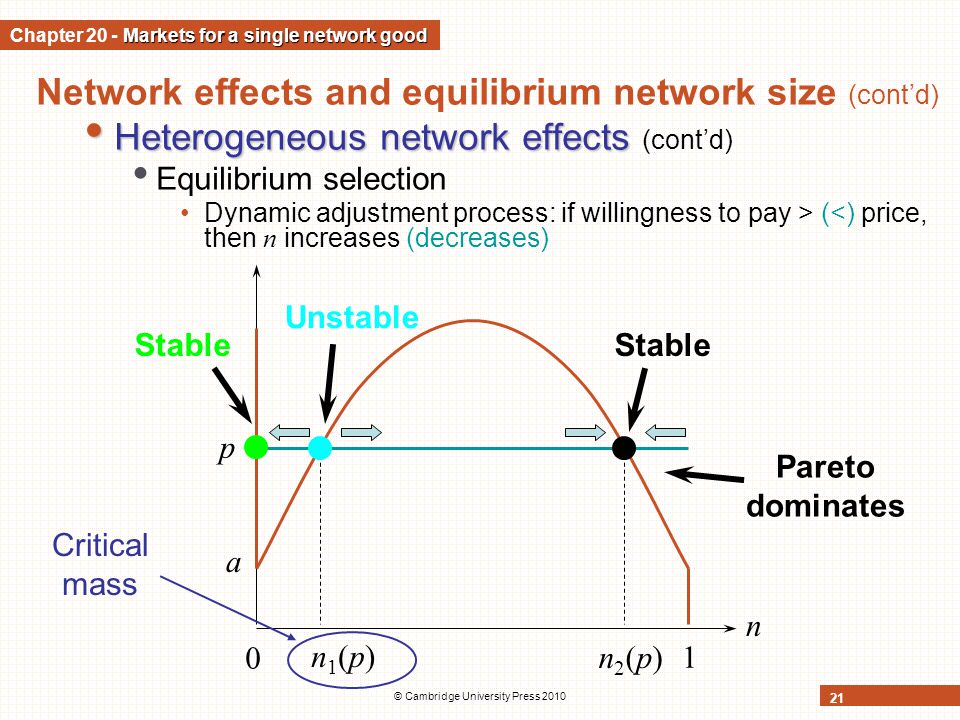 Chapter 20 - Markets for a single network good
