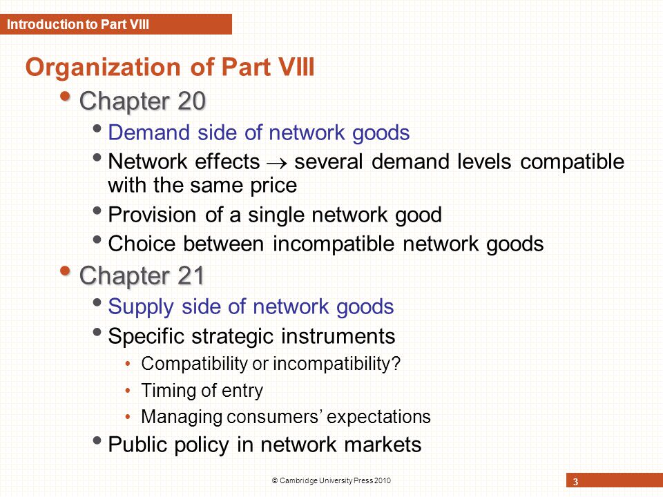 Introduction to Part VIII