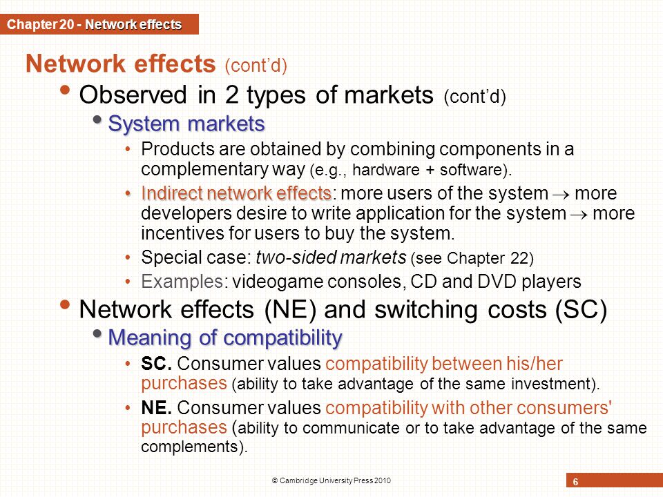 Chapter 20 - Network effects