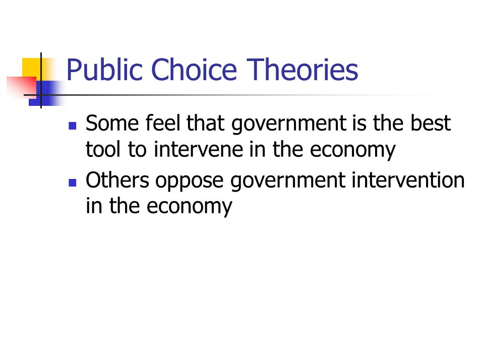 Public Choice Theories