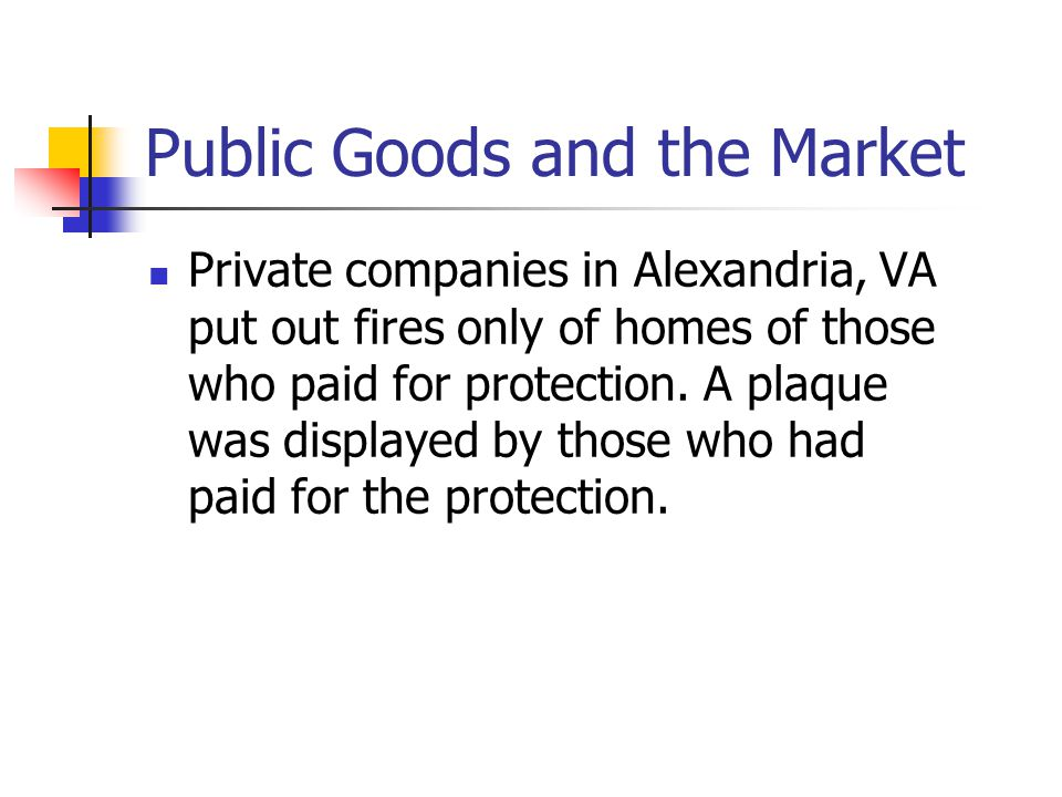 Public Goods and the Market