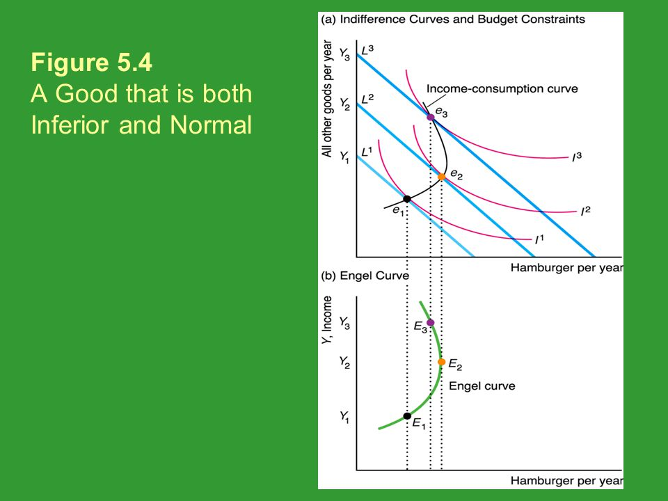 Figure 5.4 A Good that is both Inferior and Normal