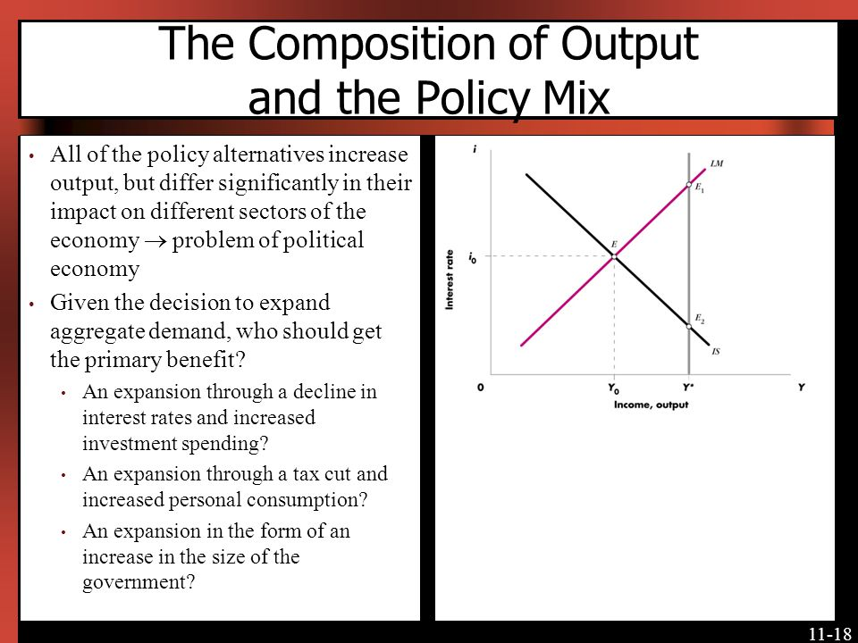 The Composition of Output and the Policy Mix