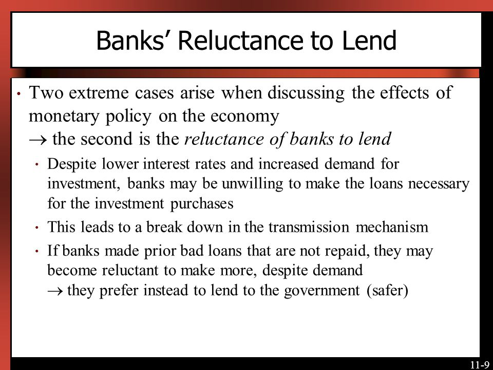 Banks' Reluctance to Lend