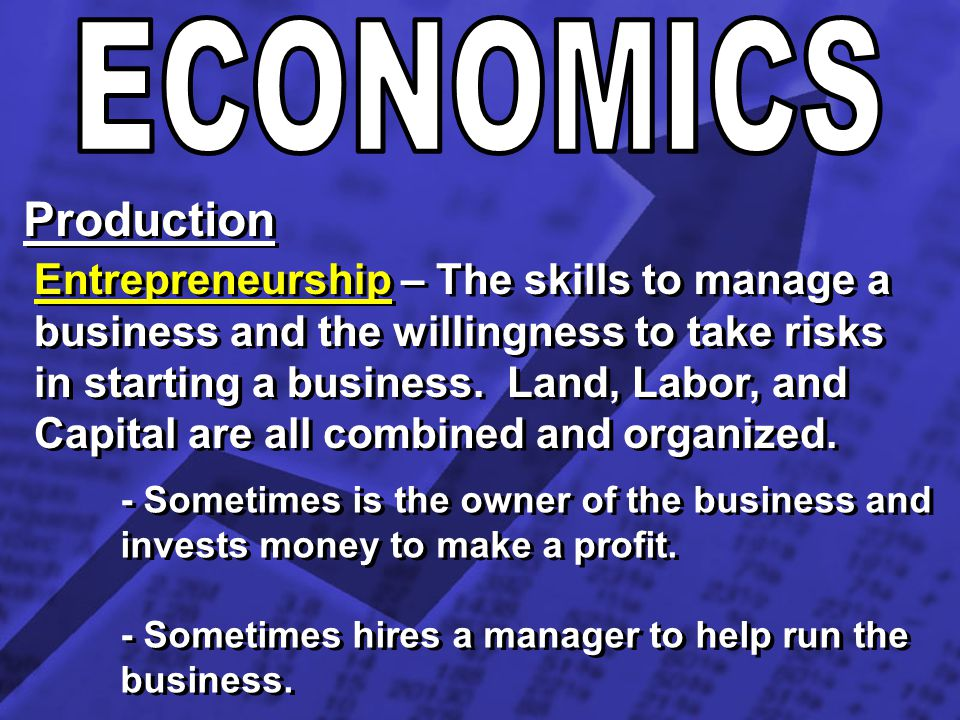 ECONOMICS Production.