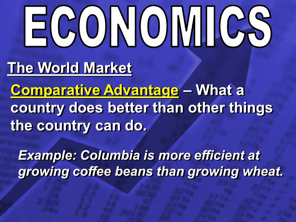 ECONOMICS The World Market
