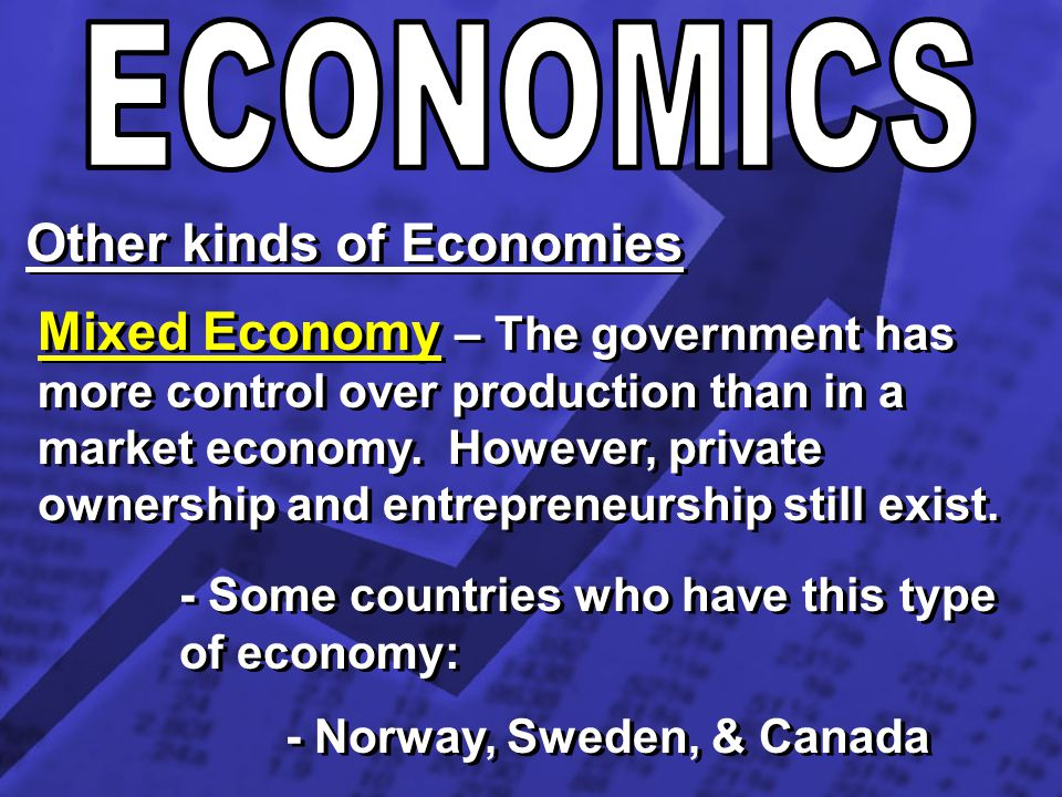 Other kinds of Economies
