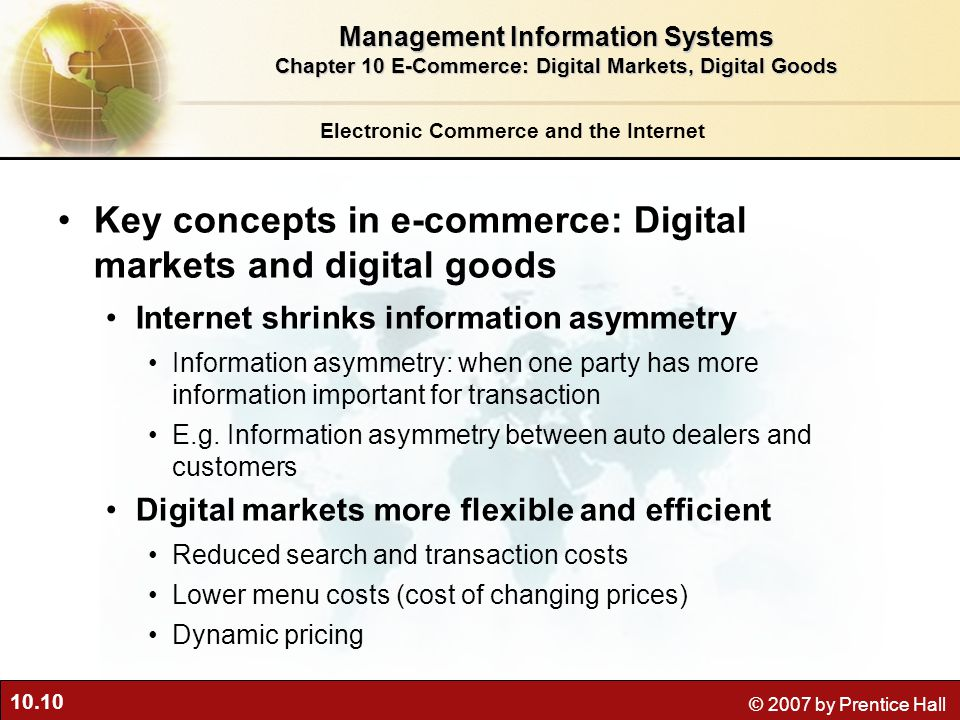 Key concepts in e-commerce: Digital markets and digital goods