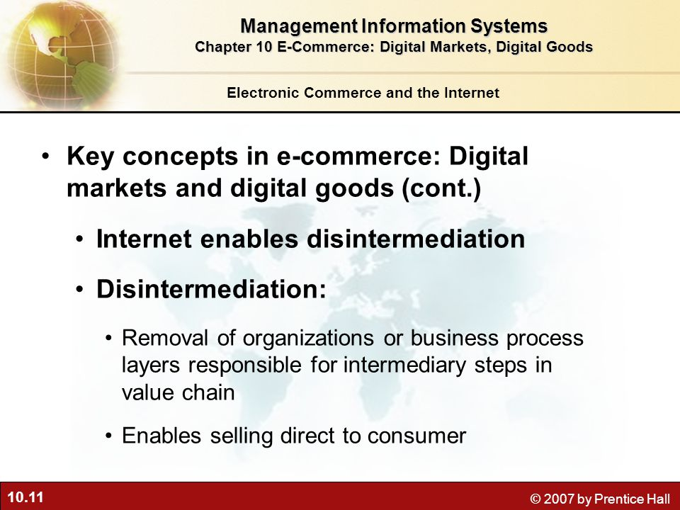 Key concepts in e-commerce: Digital markets and digital goods (cont.)