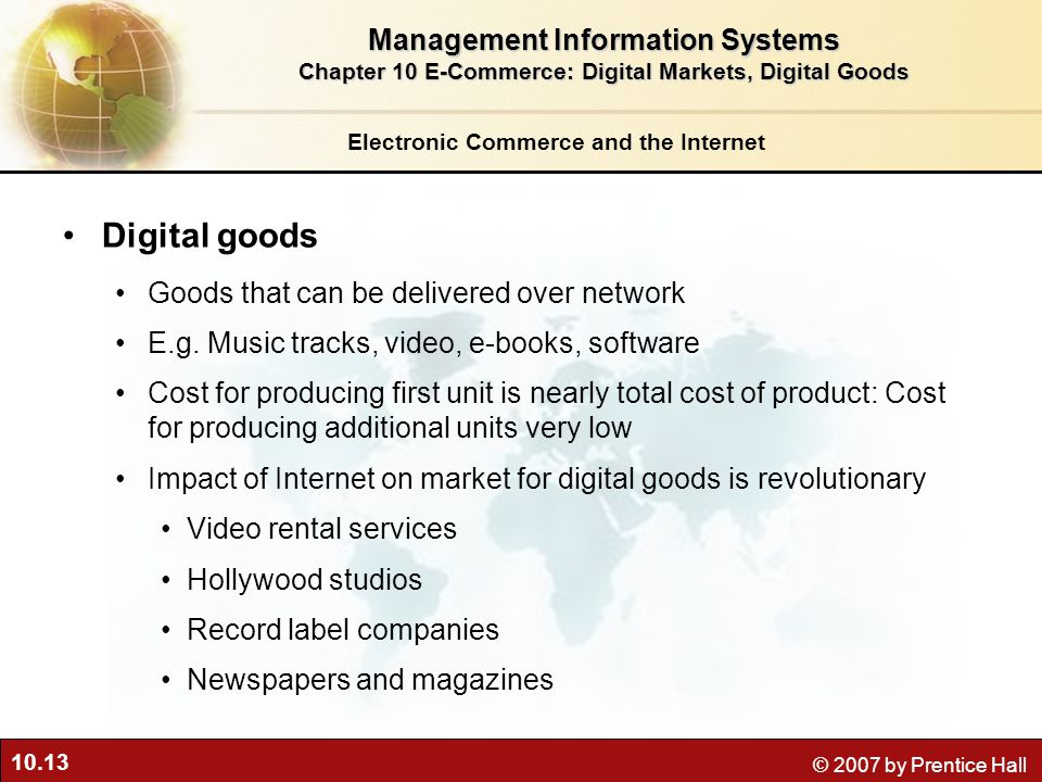 Digital goods Management Information Systems