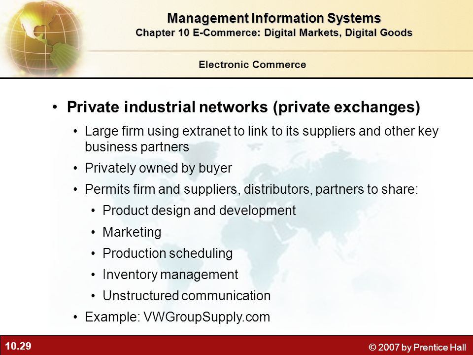Private industrial networks (private exchanges)