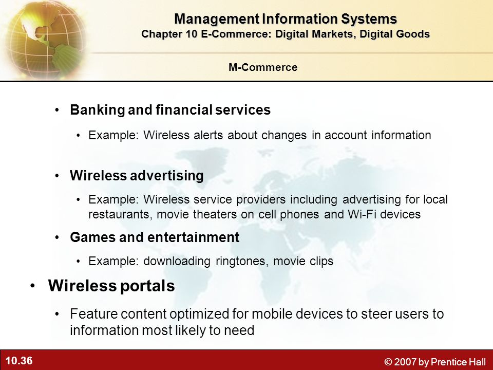 Wireless portals Management Information Systems
