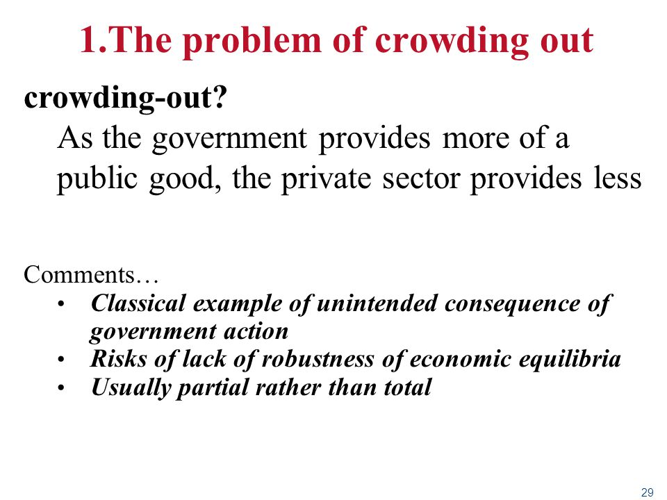 1.The problem of crowding out