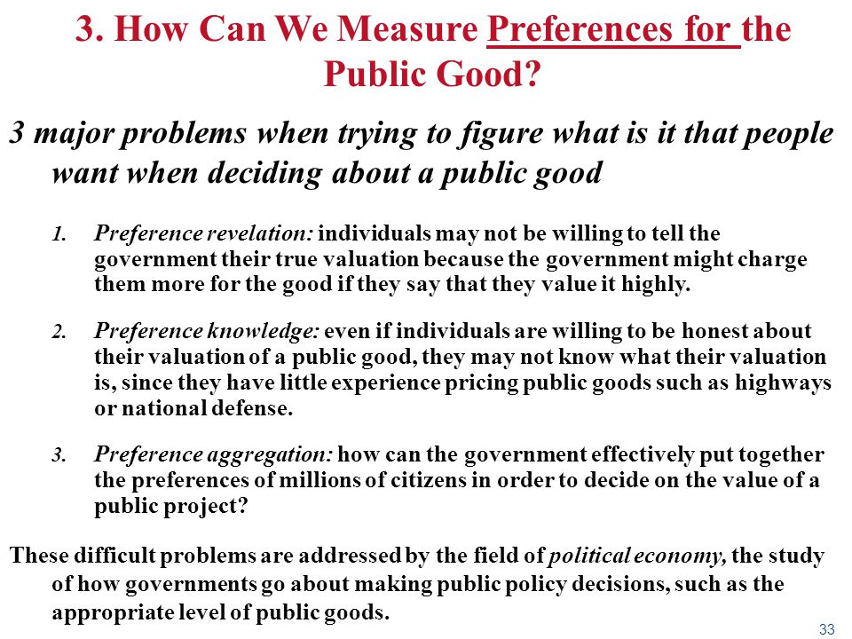 3. How Can We Measure Preferences for the Public Good