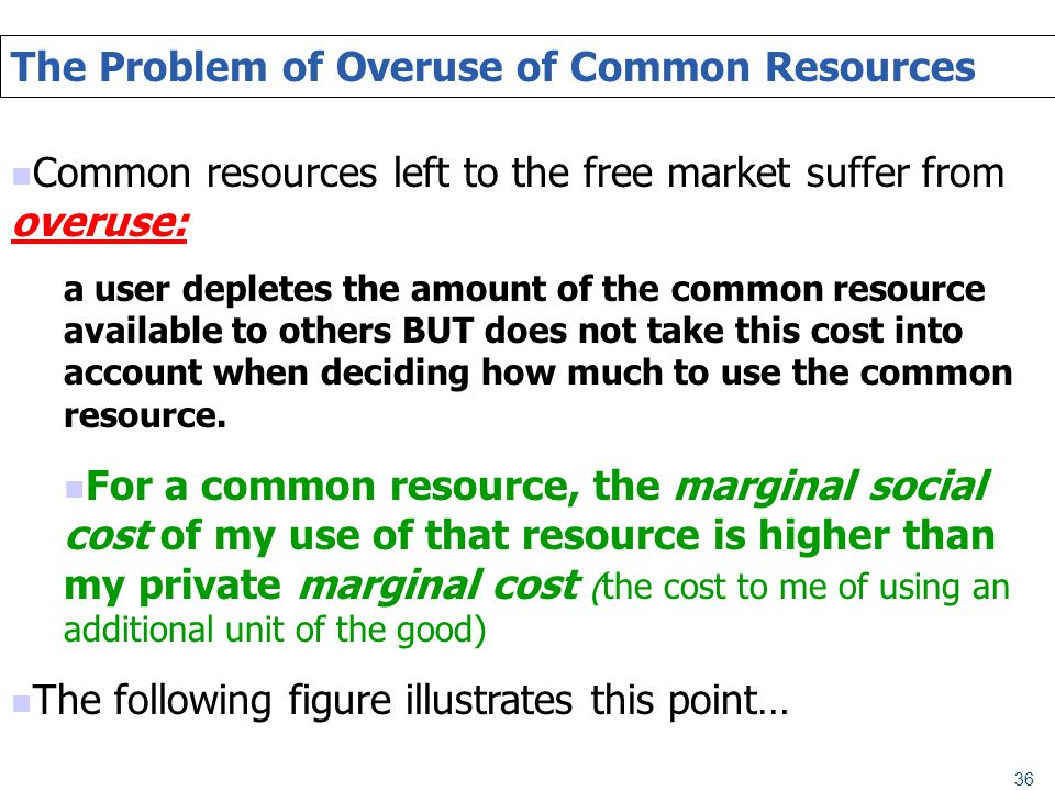 The Problem of Overuse of Common Resources