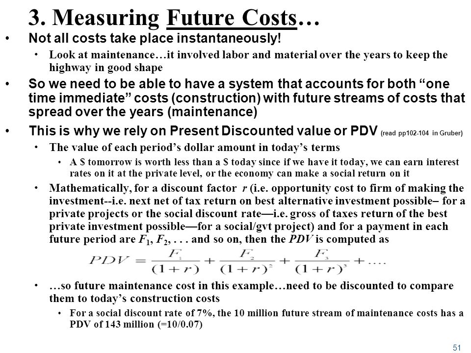 3. Measuring Future Costs…