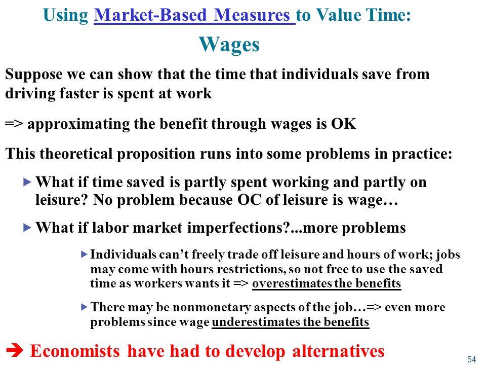 Using Market-Based Measures to Value Time: