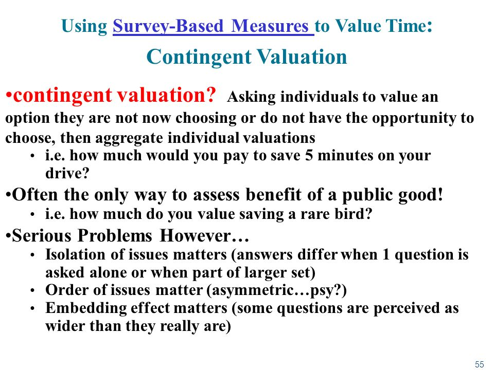 Using Survey-Based Measures to Value Time: