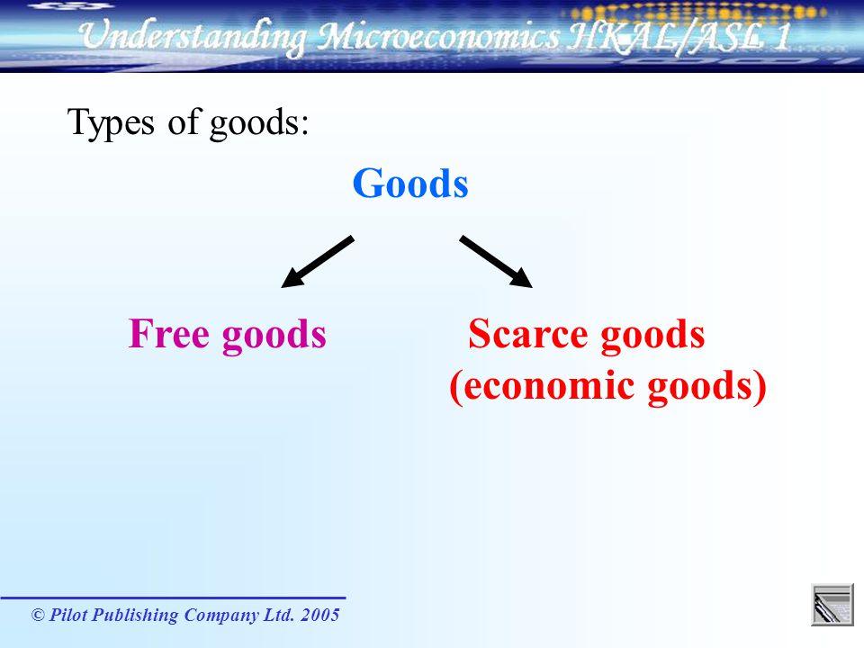 Scarce goods (economic goods)