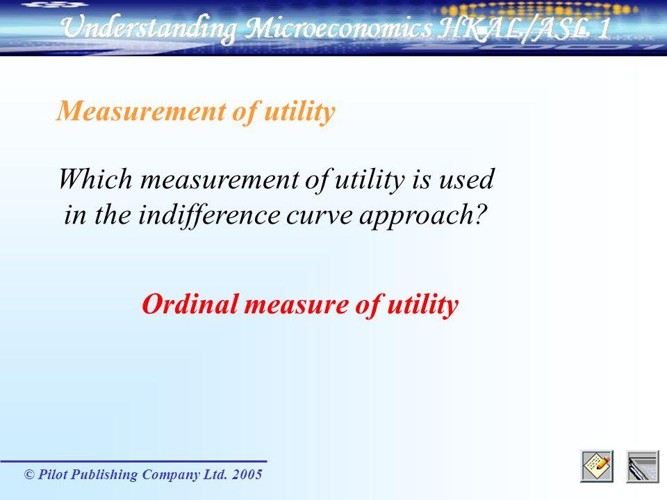 Measurement of utility