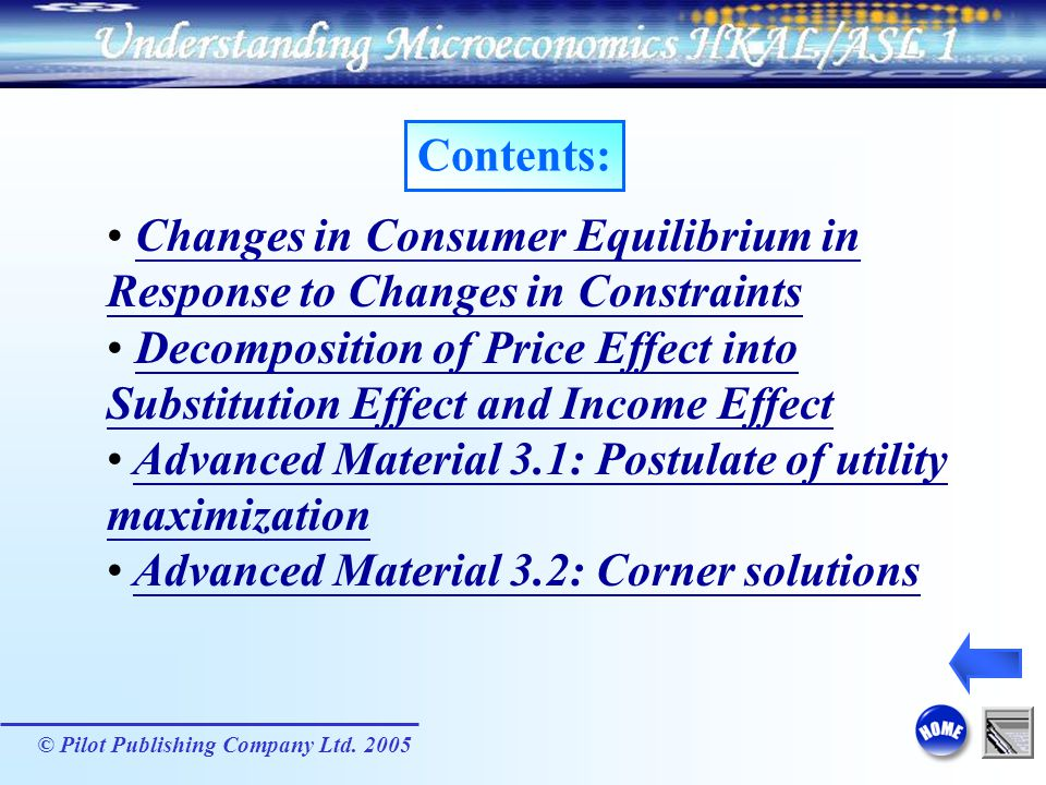 Changes in Consumer Equilibrium in Response to Changes in Constraints