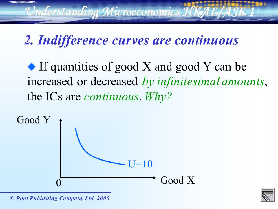 2. Indifference curves are continuous