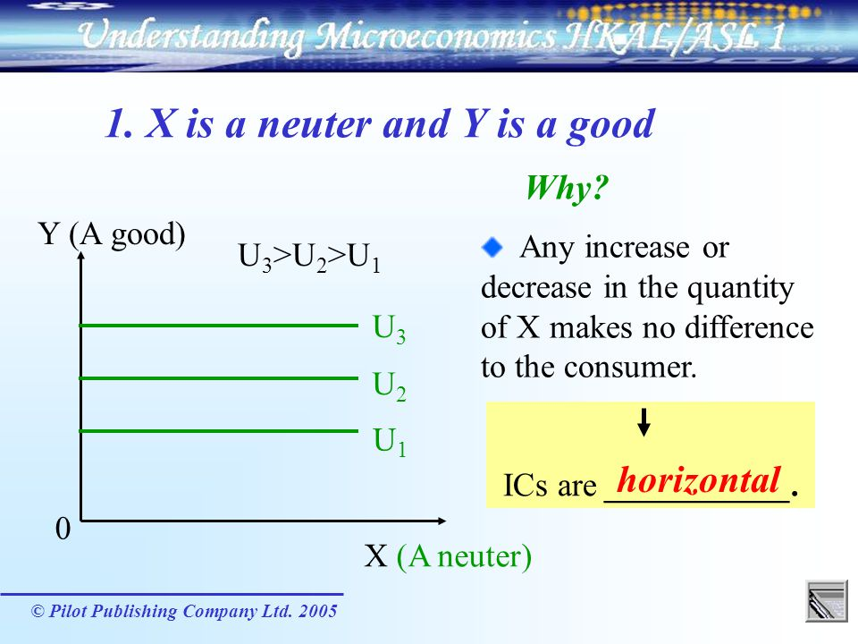 1. X is a neuter and Y is a good