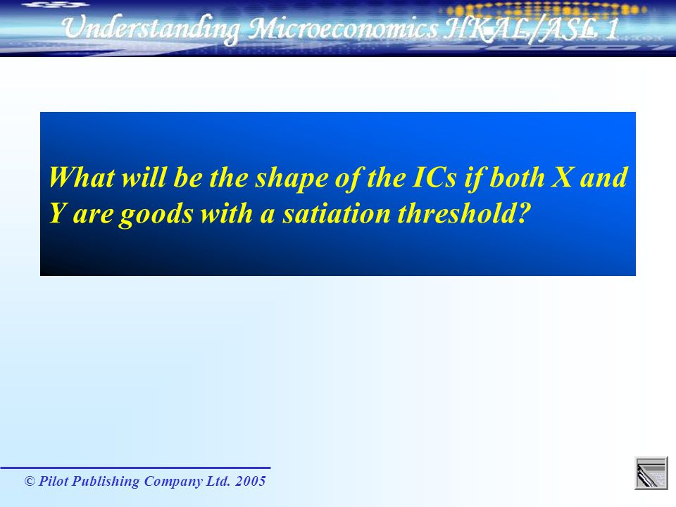 What will be the shape of the ICs if both X and Y are goods with a satiation threshold