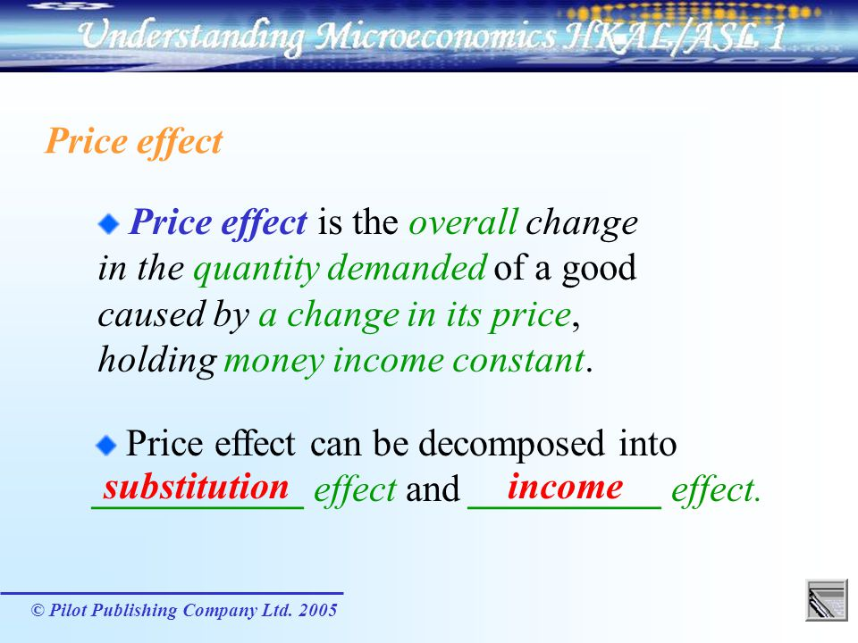 in the quantity demanded of a good caused by a change in its price,
