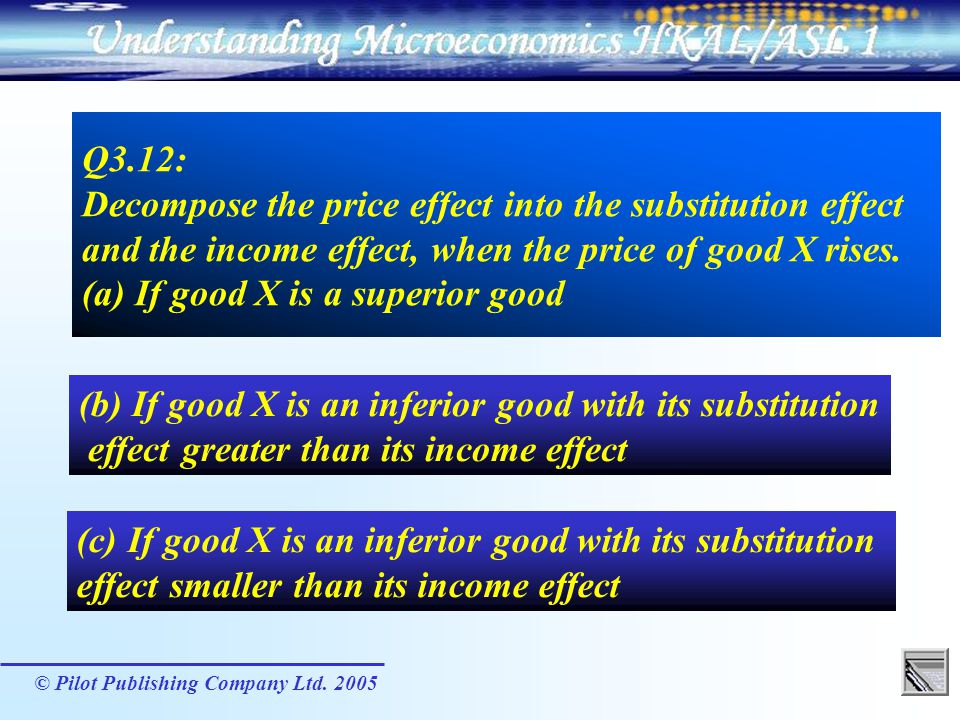 (b) If good X is an inferior good with its substitution
